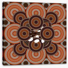 Aboriginal Art Stretched Canvas 61664769
