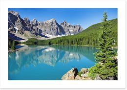 Pristine Lake Louise Art Print 61685210