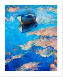 The blue boat Art Print 61699685