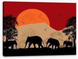 Savanna sunset Stretched Canvas 61762750