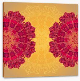 Rich mandala stars Stretched Canvas 61836569