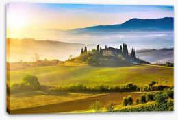 Tuscany sunrise Stretched Canvas 61838636