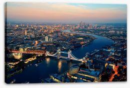 London dusk aerial