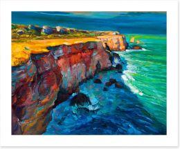 Ocean cliffs Art Print 62050280