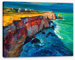 Ocean cliffs Stretched Canvas 62050280