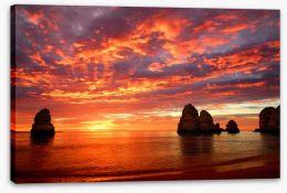 Dramatic coast sunset