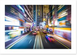 Hong Kong blur