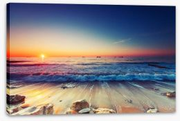 Sunrise over the sea Stretched Canvas 62374288