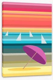 Umbrella on the beach Stretched Canvas 62431245
