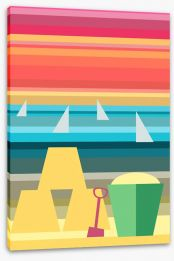 Beach House Stretched Canvas 62432342