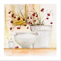 Red winter berries Art Print 62533666