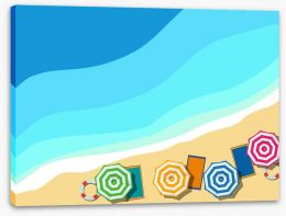 Summer at the beach Stretched Canvas 62534131