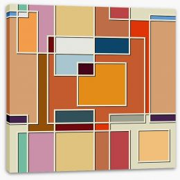 Don't be a square Stretched Canvas 62762897