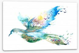 The flight of Spring Stretched Canvas 62827881