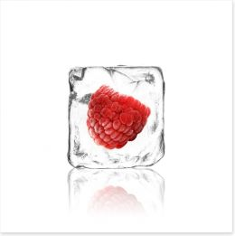 Raspberry in ice Art Print 63049098
