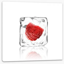 Raspberry in ice Stretched Canvas 63049098