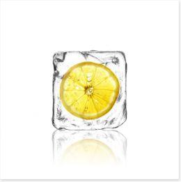 Lemon in ice Art Print 63051861