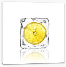 Lemon in ice Stretched Canvas 63051861