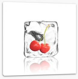 Cherry in ice Stretched Canvas 63057916