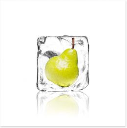Pear in ice Art Print 63275132