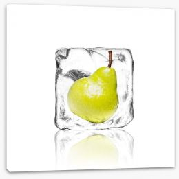 Pear in ice Stretched Canvas 63275132
