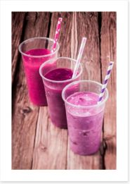 Pink berry smoothie Art Print 63317051