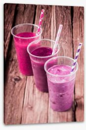 Pink berry smoothie Stretched Canvas 63317051