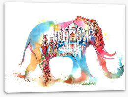 Indian elephant Stretched Canvas 63336891