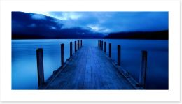 Midnight at the jetty of dreams Art Print 63557145