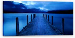 Midnight at the jetty of dreams Stretched Canvas 63557145