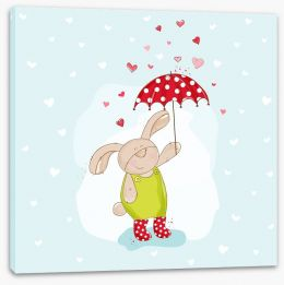 Shower with love Stretched Canvas 63784034