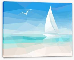 Sailing into the future Stretched Canvas 63813273