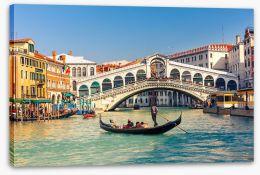 Rialto Bridge in Venice Stretched Canvas 63839278