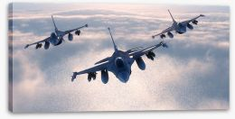 Night fighters Stretched Canvas 64102690