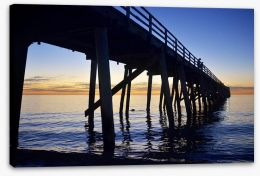 Grange Beach jetty Stretched Canvas 64205577