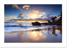 Beach sunrise at Noraville Art Print 64410242