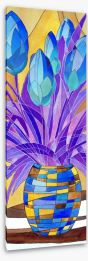 Tulips in a vase Stretched Canvas 64571729