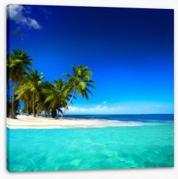 Desert island paradise Stretched Canvas 64687249