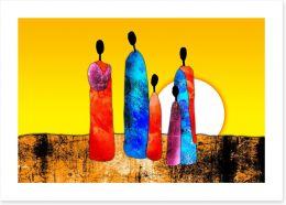 African Art Art Print 64923247