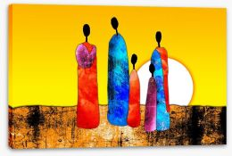 African Art Stretched Canvas 64923247