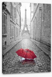 The streets of Paris Stretched Canvas 65130682