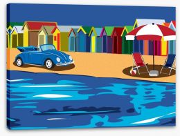 Beach House Stretched Canvas 6529692