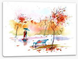 Watercolour Stretched Canvas 65864382