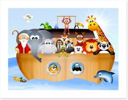 Noah's ark voyage Art Print 65946584