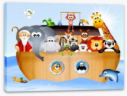 Noah's ark voyage Stretched Canvas 65946584