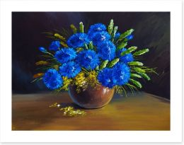Blue wildflower bouquet