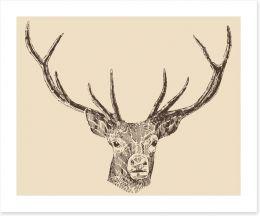 Vintage deer head