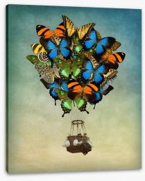 Butterfly balloon Stretched Canvas 66732178