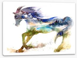Travelling horse Stretched Canvas 66752496