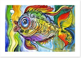 The colourful fish Art Print 68035311